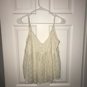 TJ Maxx | Cream lace baby doll tank | Medium